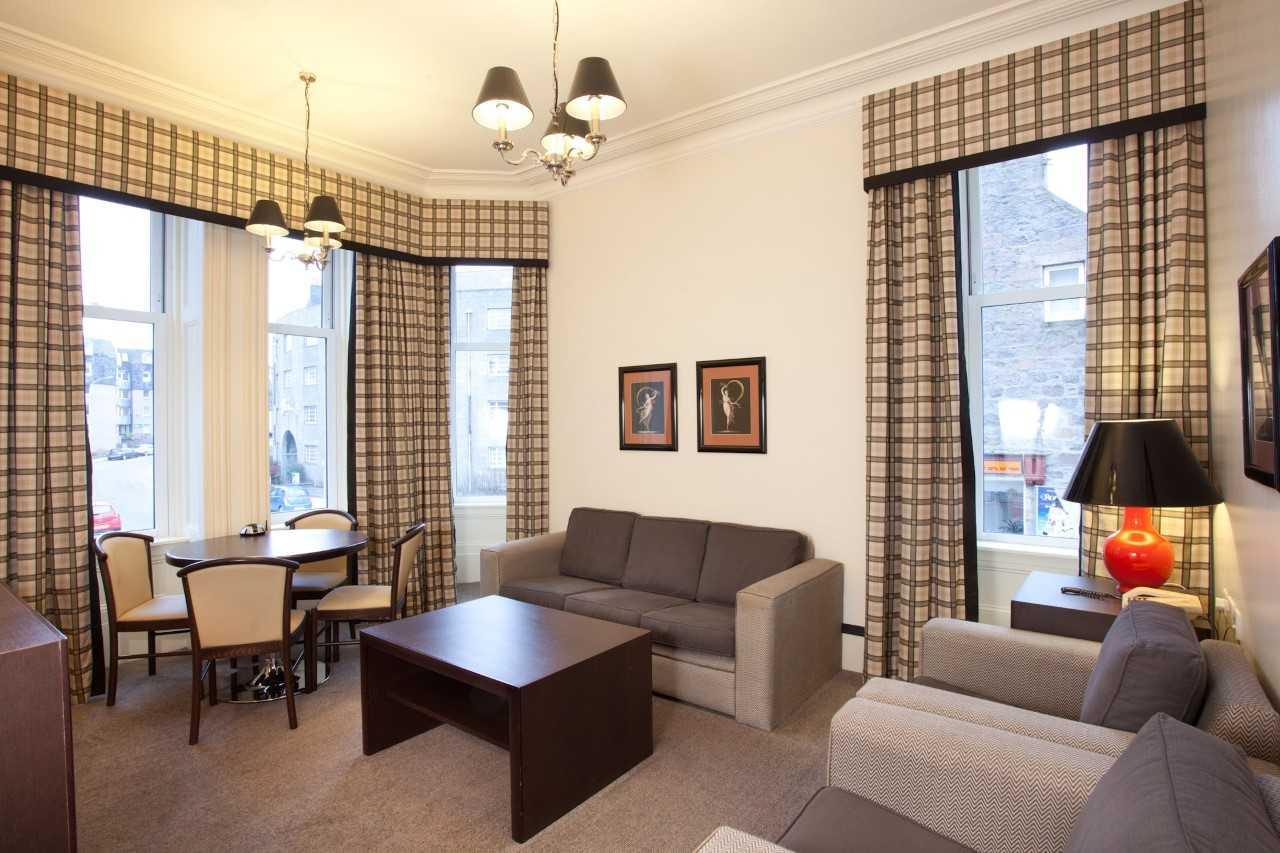 Living area at Skene House Rosemount Apartments - Citybase Apartments