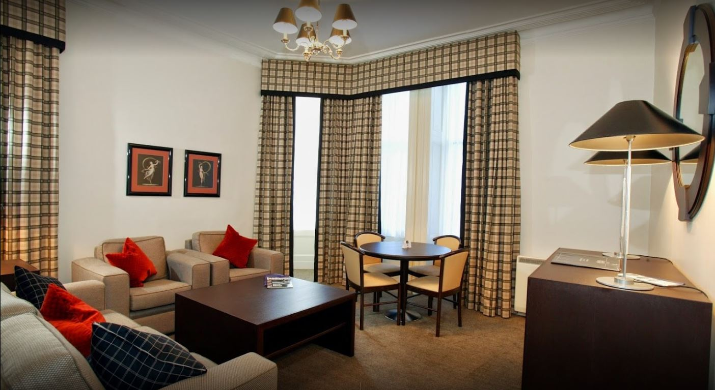 Lounge area at Skene House Rosemount Apartments - Citybase Apartments