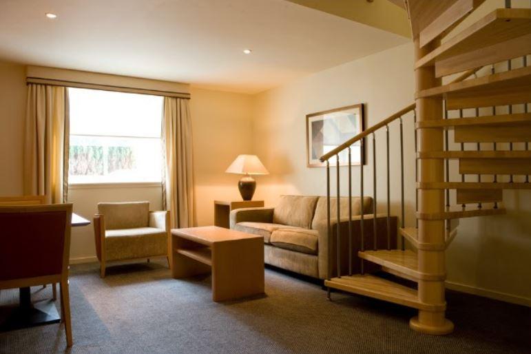 Living room at Skene House Rosemount Apartments - Citybase Apartments