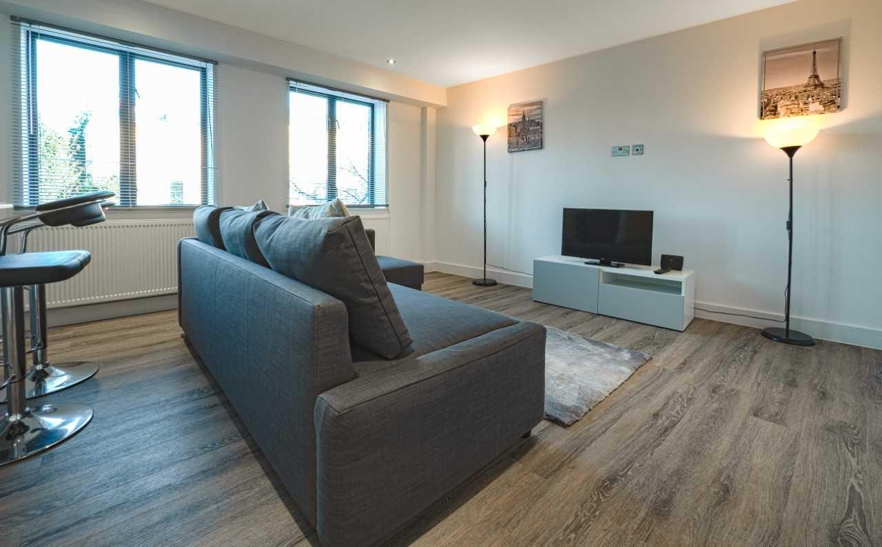 Living room at Kings Lodge Apartments - Citybase Apartments