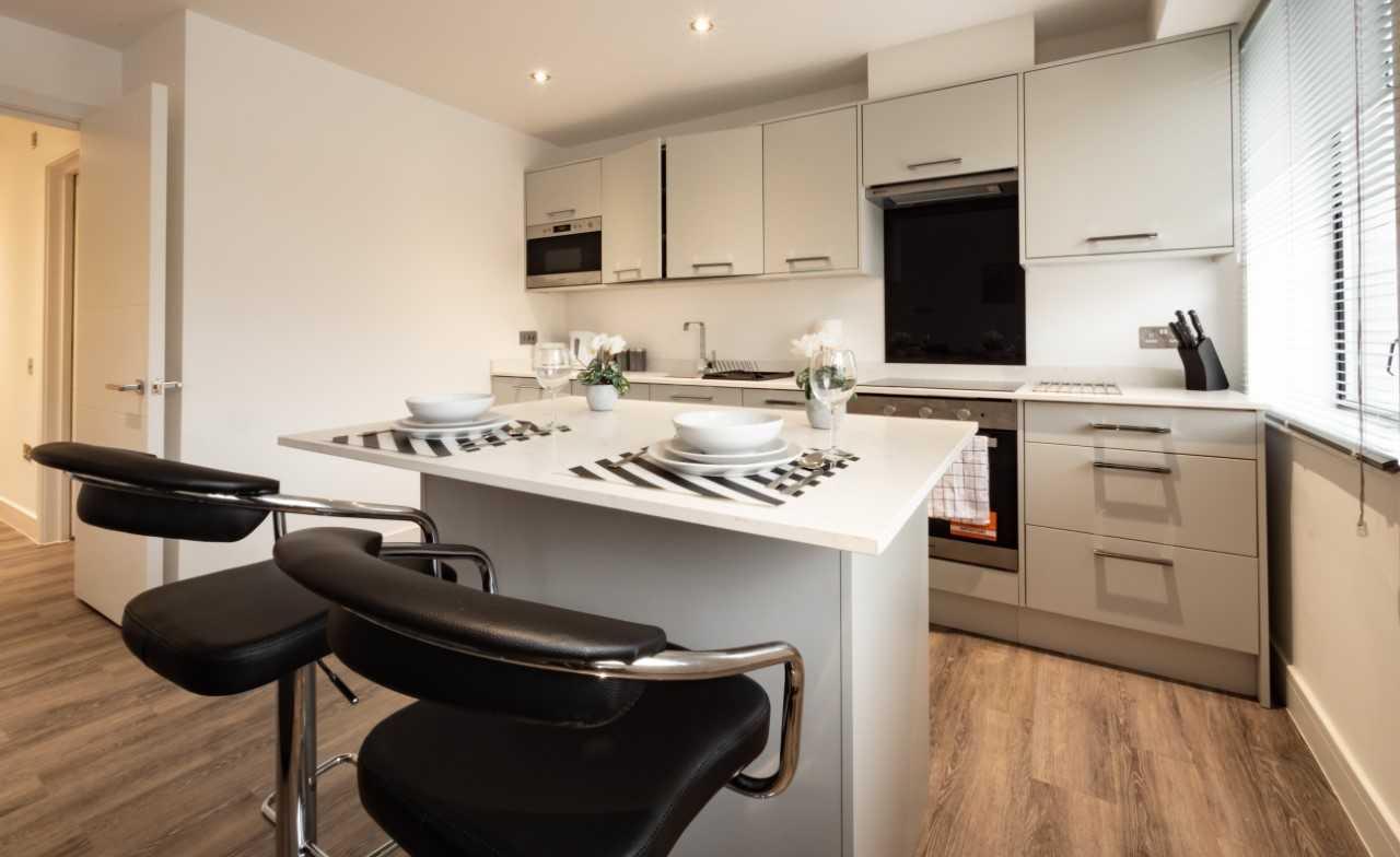 Kitchen at Kings Lodge Apartments - Citybase Apartments