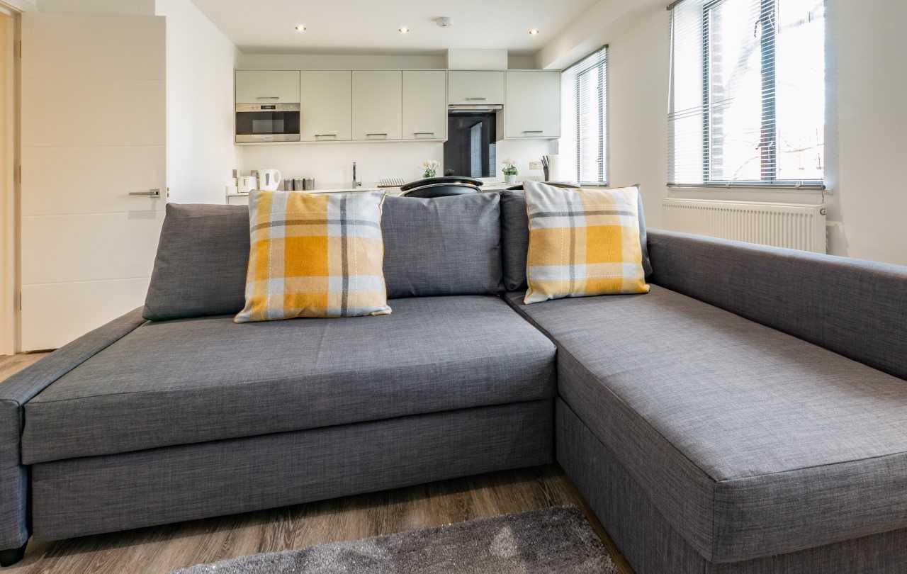 Sofa at Kings Lodge Apartments - Citybase Apartments