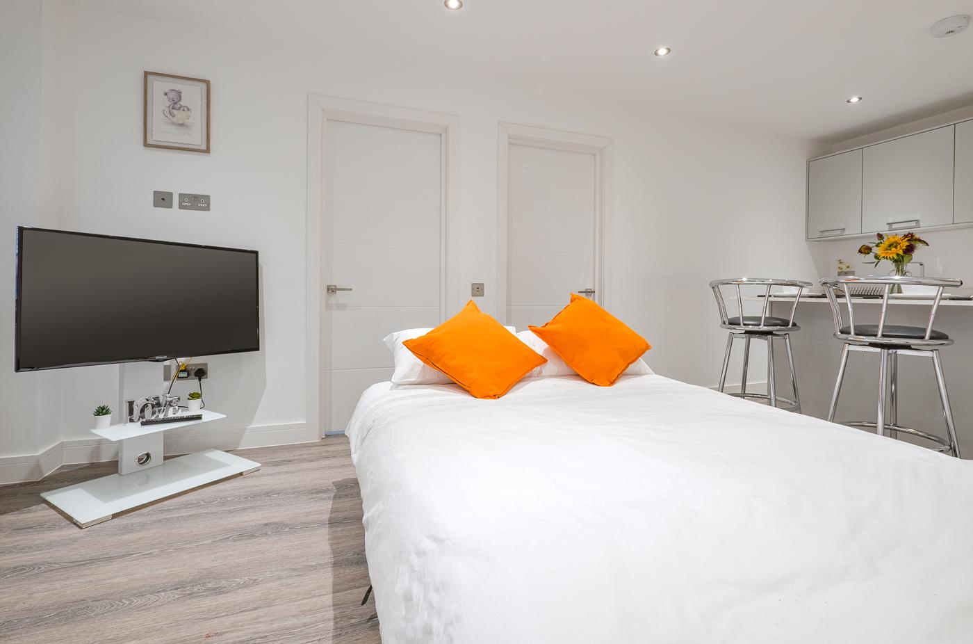 Sofa bed at Kings Lodge Apartments - Citybase Apartments