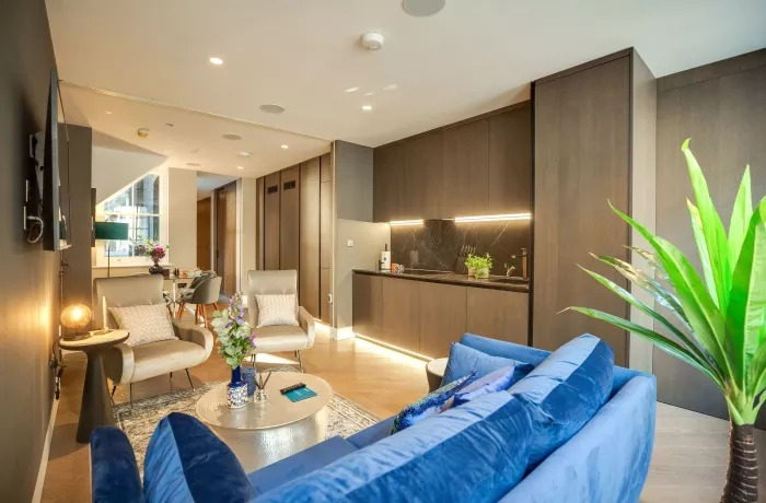 Stylish lounge at Soho Serviced Apartments - Citybase Apartments