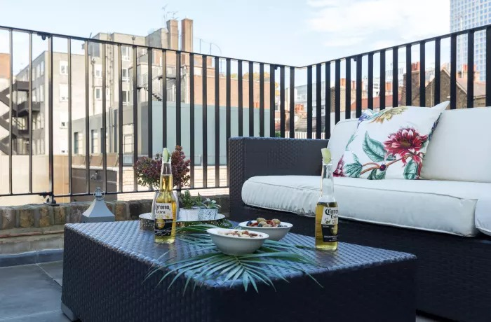 Terrace area at Soho Serviced Apartments - Citybase Apartments