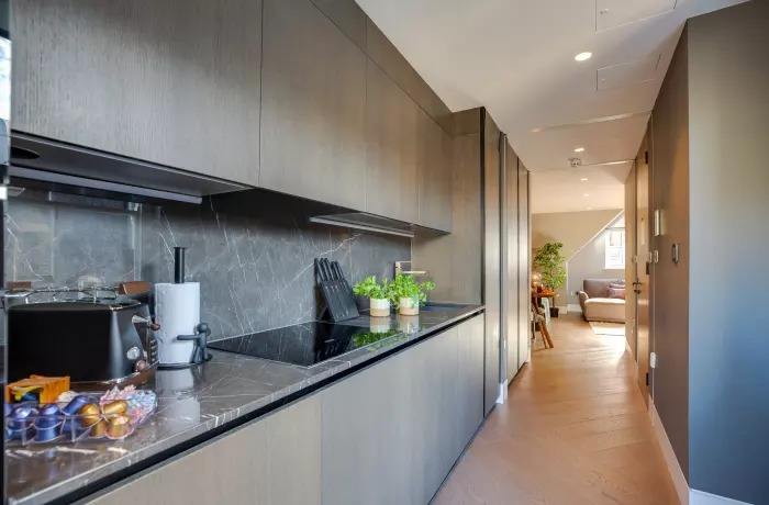 Kitchen at Soho Serviced Apartments - Citybase Apartments