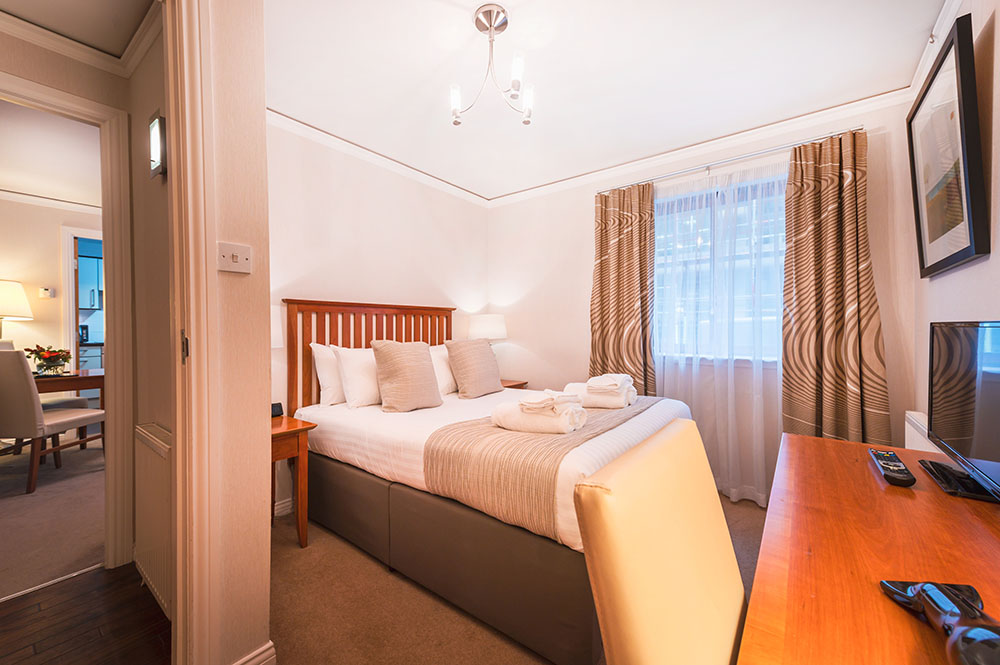 Bedroom at The Knight Residence, Old Town, Edinburgh - Citybase Apartments