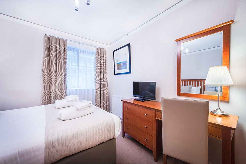 Bed at The Knight Residence, Old Town, Edinburgh - Citybase Apartments