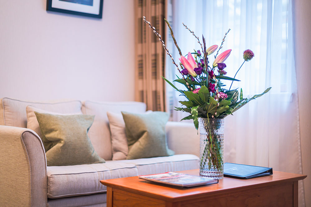 Flowers at The Knight Residence, Old Town, Edinburgh - Citybase Apartments