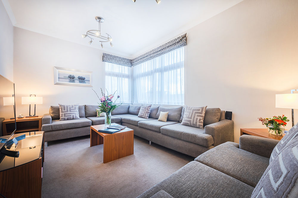 Sofas at The Knight Residence, Old Town, Edinburgh - Citybase Apartments