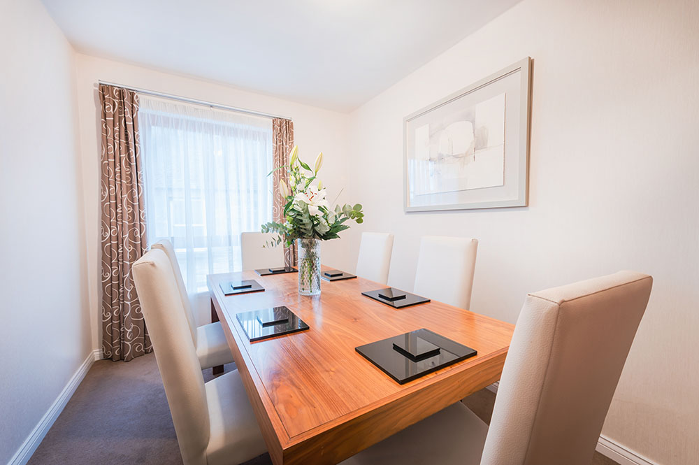 Dining table at The Knight Residence, Old Town, Edinburgh - Citybase Apartments