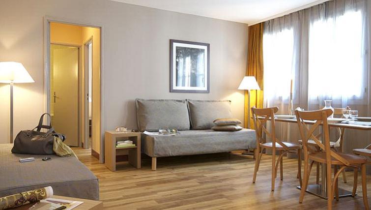 Stylish living area in Adagio Paris Montmartre - Citybase Apartments