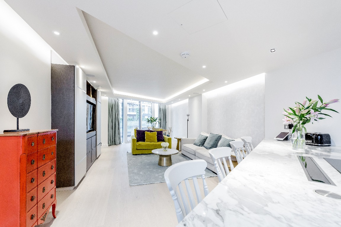 Dining area at The Chelsea Pads, Imperial Wharf, London - Citybase Apartments