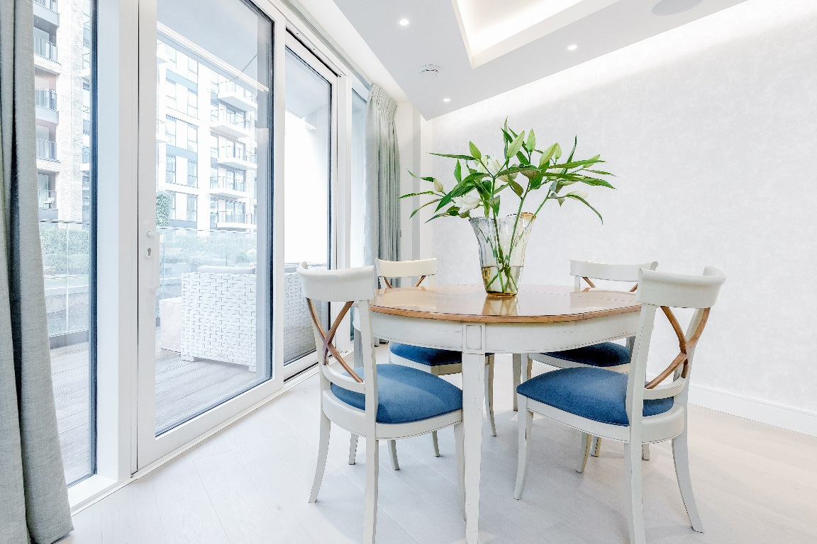 Dining table at The Chelsea Pads, Imperial Wharf, London - Citybase Apartments