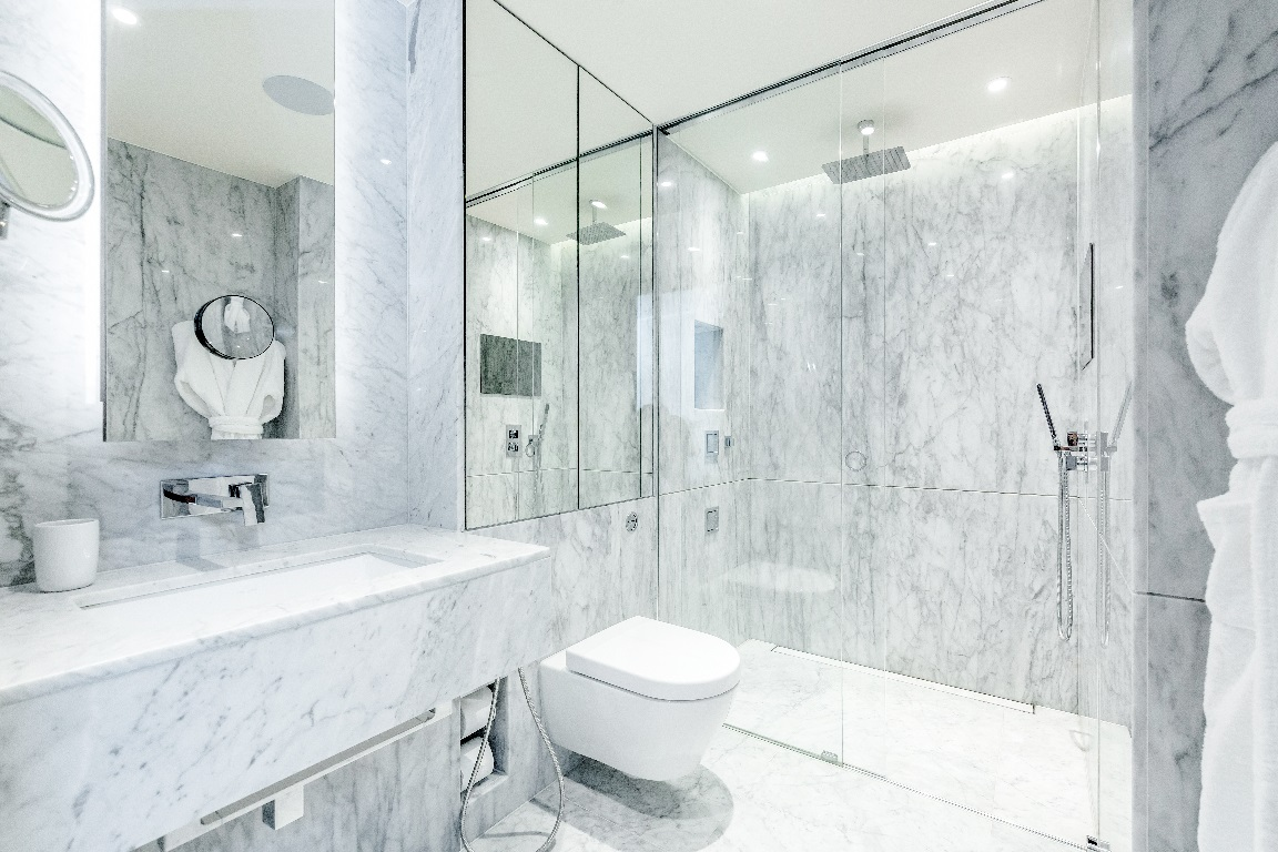 Bathroom at The Chelsea Pads, Imperial Wharf, London - Citybase Apartments