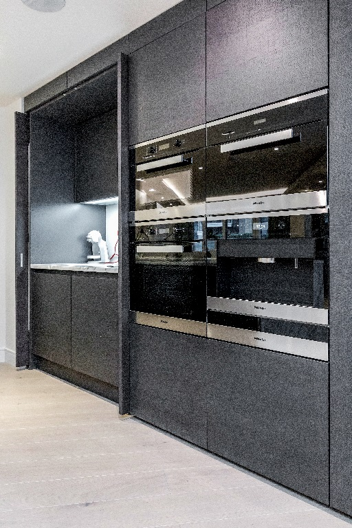 Fully equipped kitchen at The Chelsea Pads, Imperial Wharf, London - Citybase Apartments