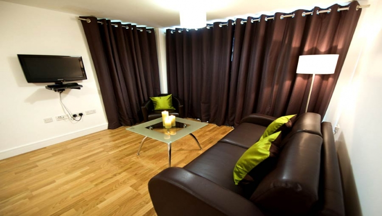 Stylish living area at Lever Court Apartments - Citybase Apartments
