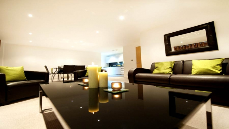 Beautiful living area at Lever Court Apartments - Citybase Apartments