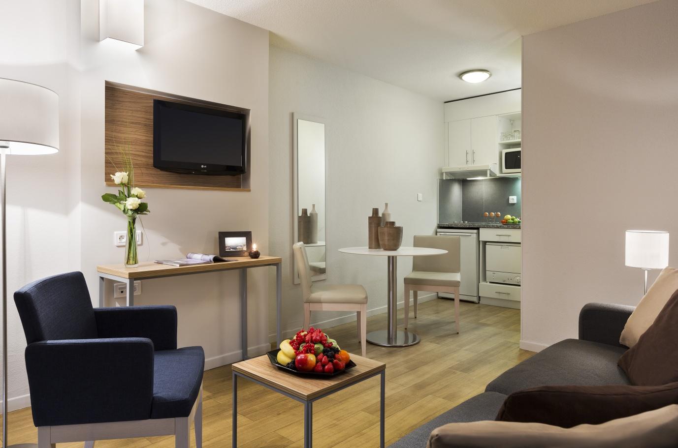 Lounge at Citadines Prado Chanot Apartments - Citybase Apartments
