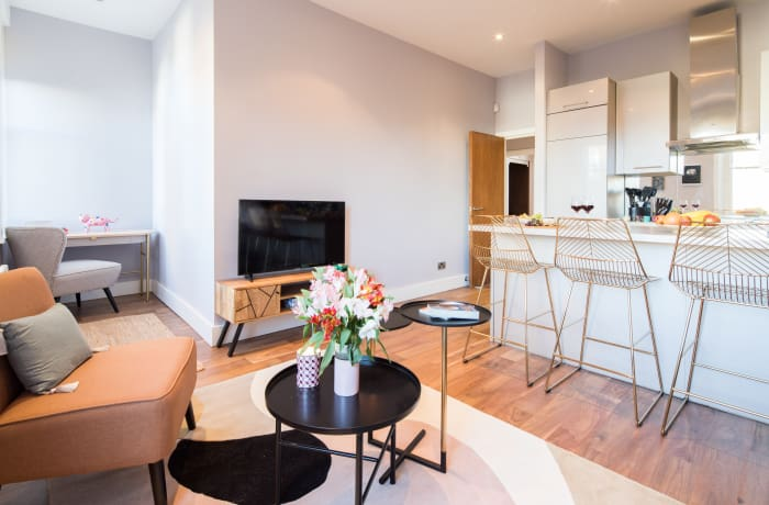 Living room at Notting Hill Serviced Apartments - Citybase Apartments