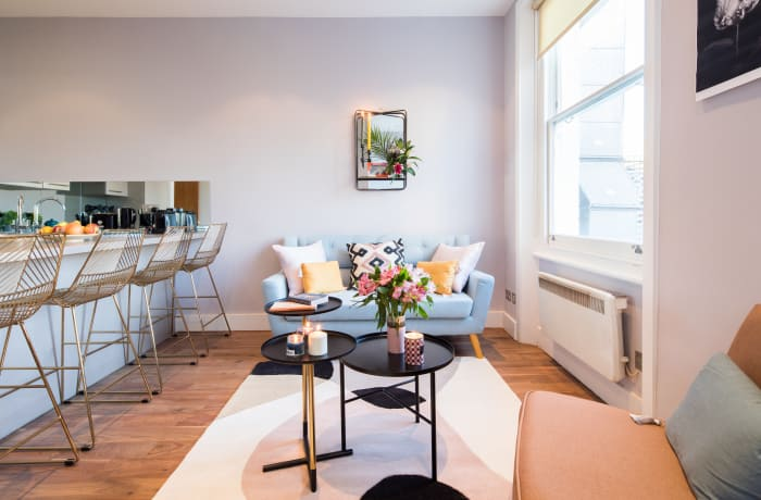 Sofa at Notting Hill Serviced Apartments - Citybase Apartments