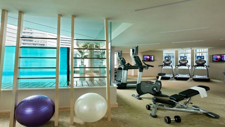 Fully-equipped gym in Ascott Raffles Place Singapore Apartments, Singapore - Citybase Apartments
