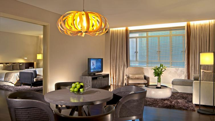 Living room at Ascott Raffles Place Singapore Apartments, Singapore - Citybase Apartments
