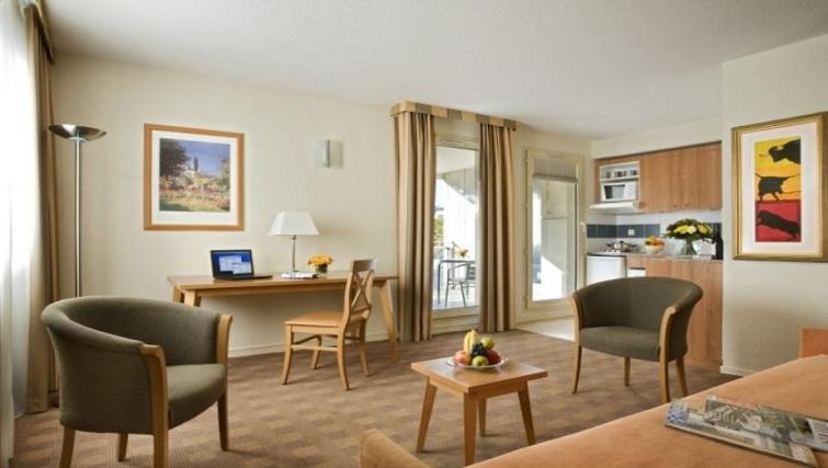 Compact living area in Citadines Antigone Apartments - Citybase Apartments