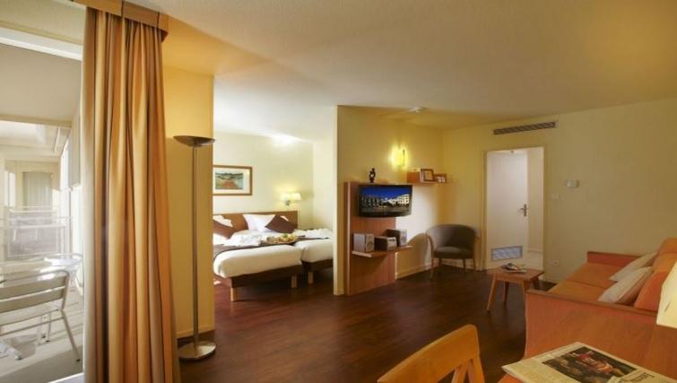 Smart living area in Citadines Antigone Apartments - Citybase Apartments