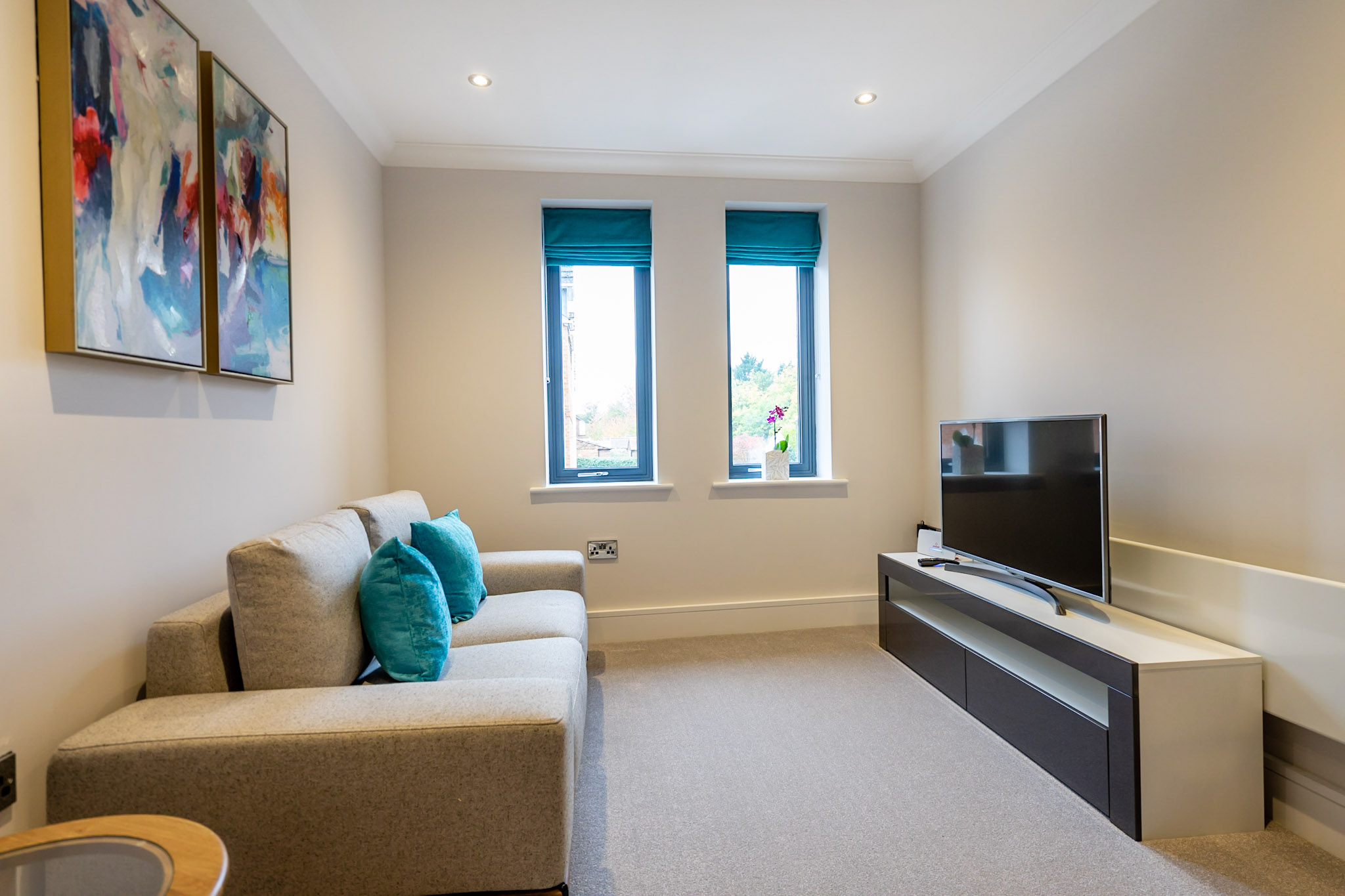 Living room at London Mews Serviced Apartments - Citybase Apartments
