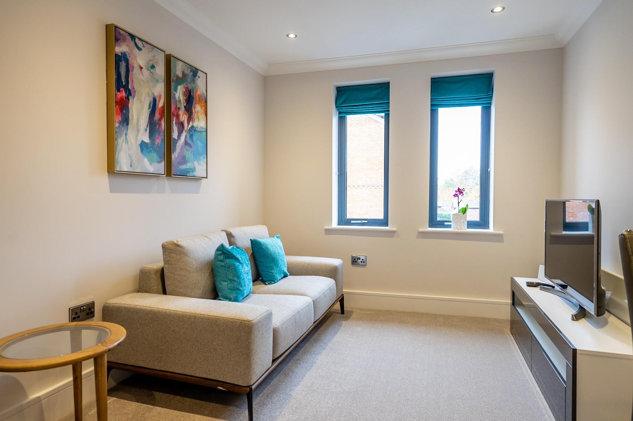 Sofa at London Mews Serviced Apartments - Citybase Apartments