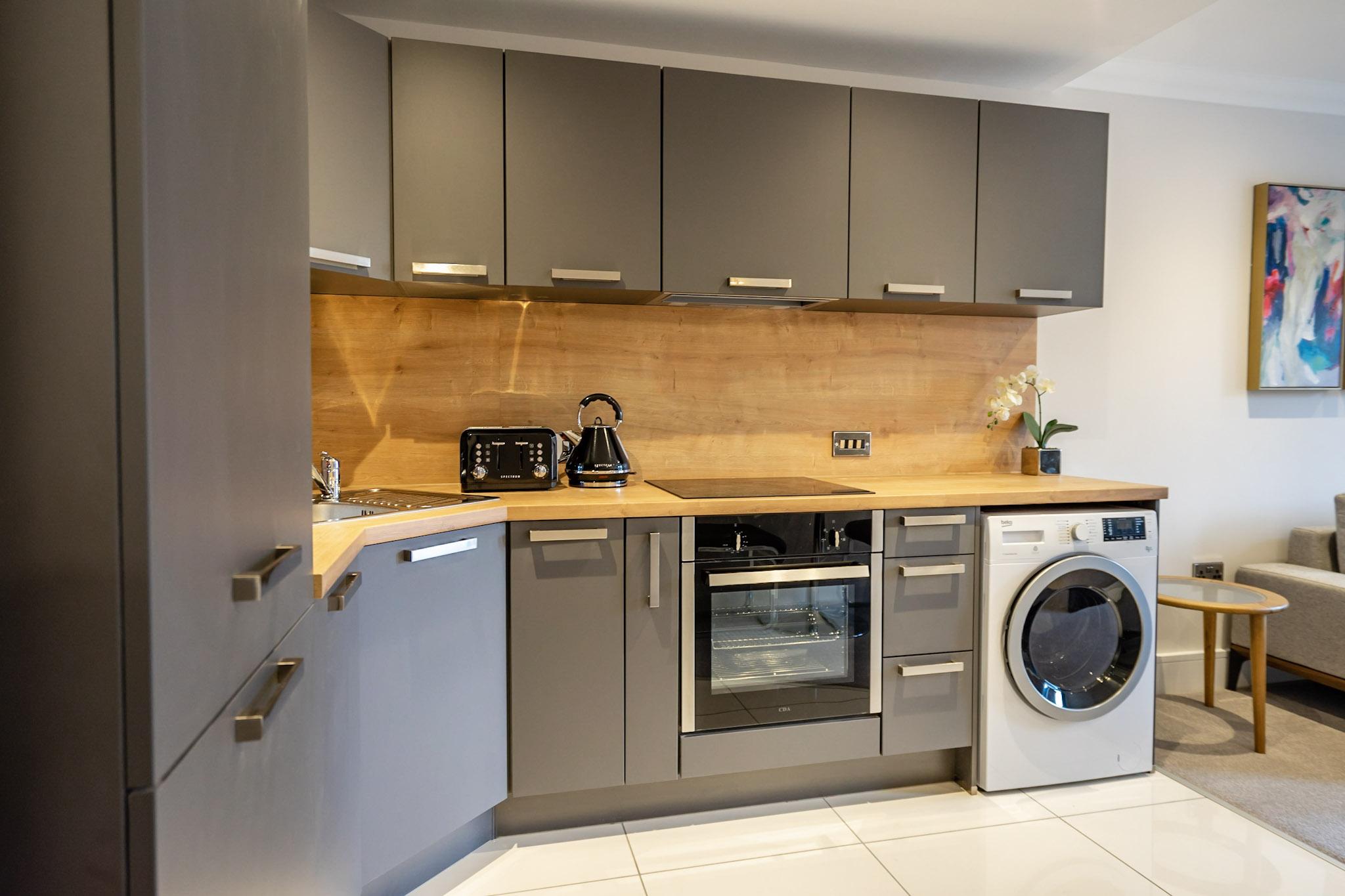 Kitchen facilities at London Mews Serviced Apartments - Citybase Apartments