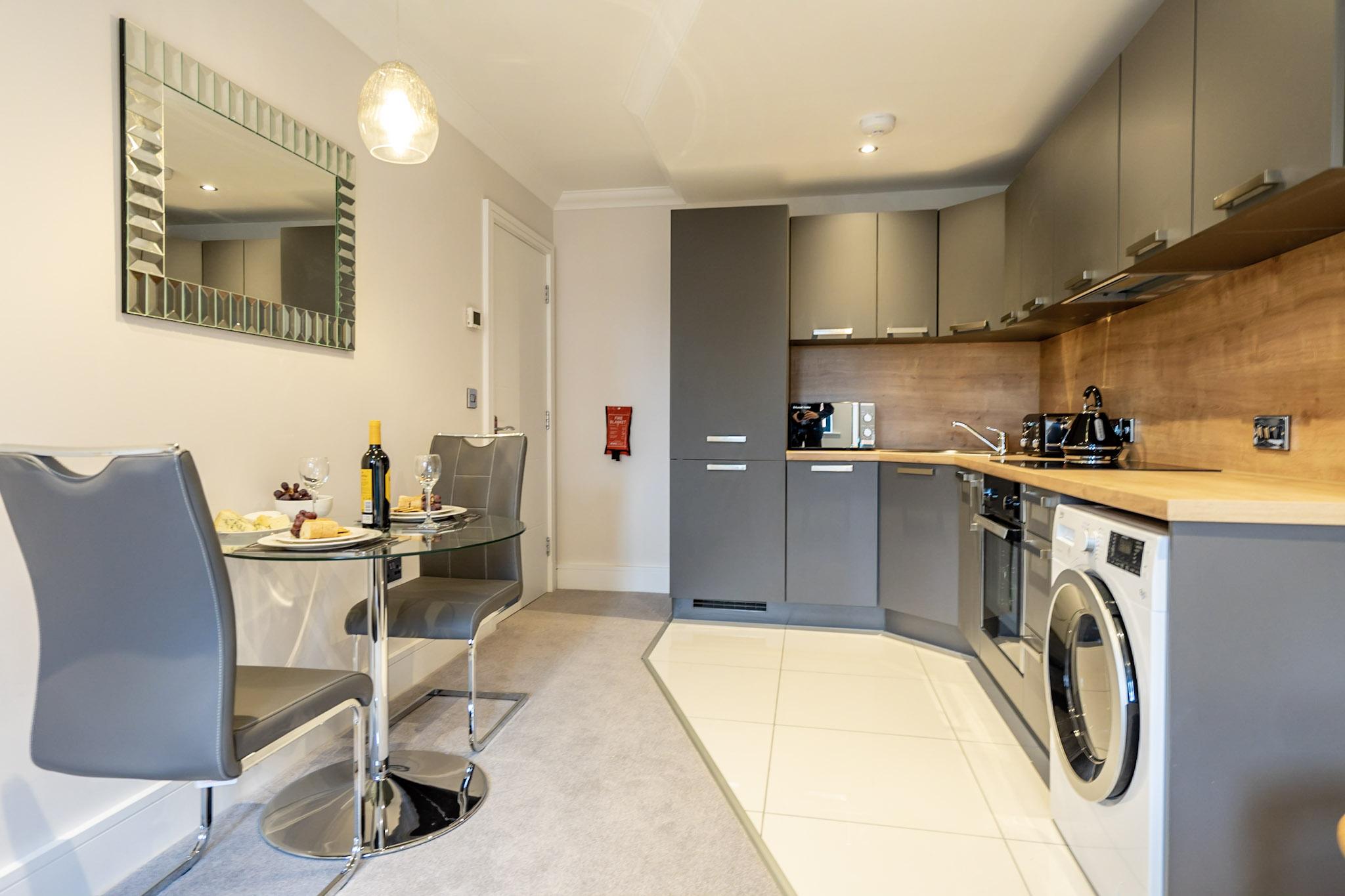 Kitchen at London Mews Serviced Apartments - Citybase Apartments