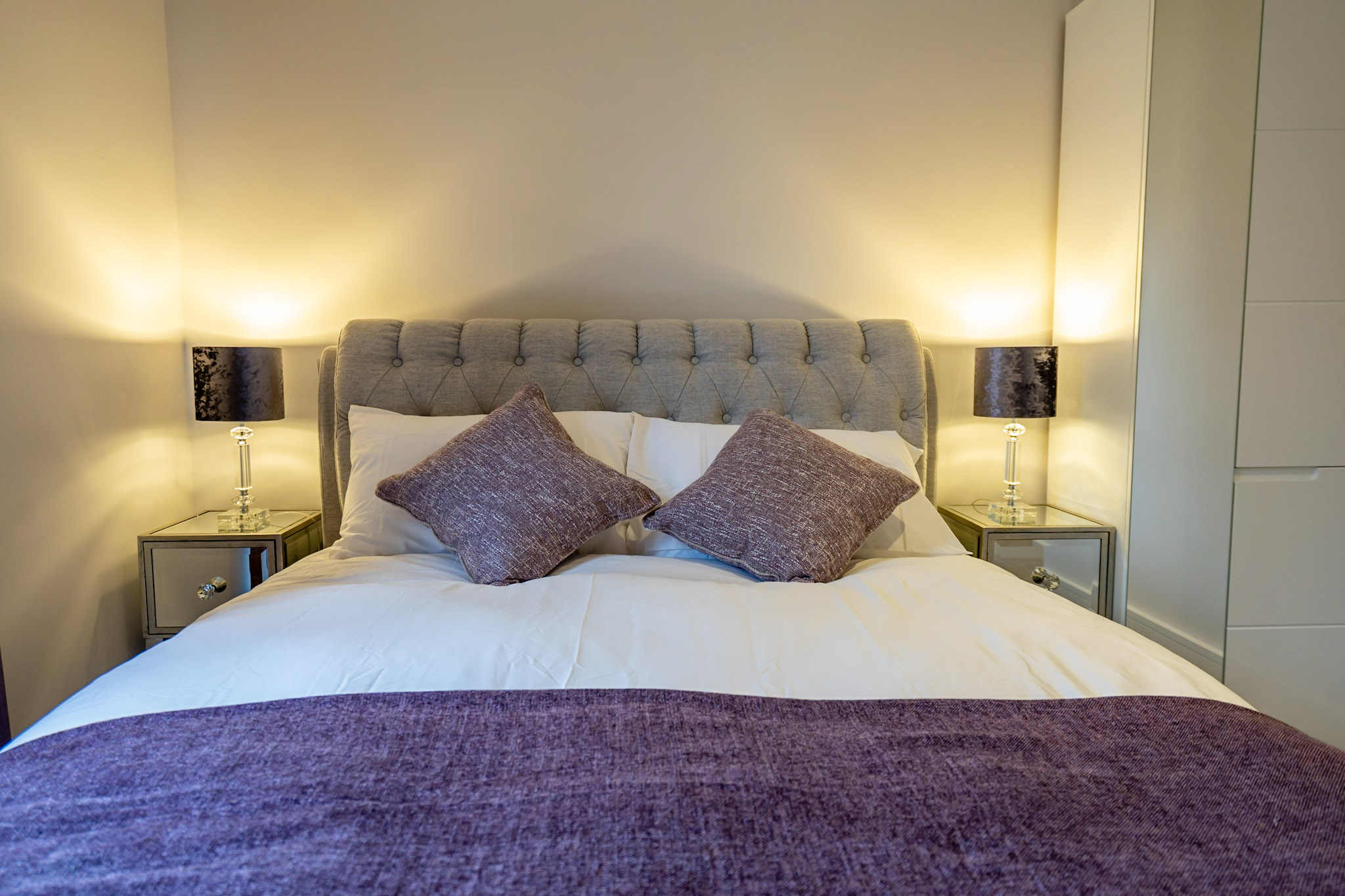 Stylish bedroom at London Mews Serviced Apartments - Citybase Apartments