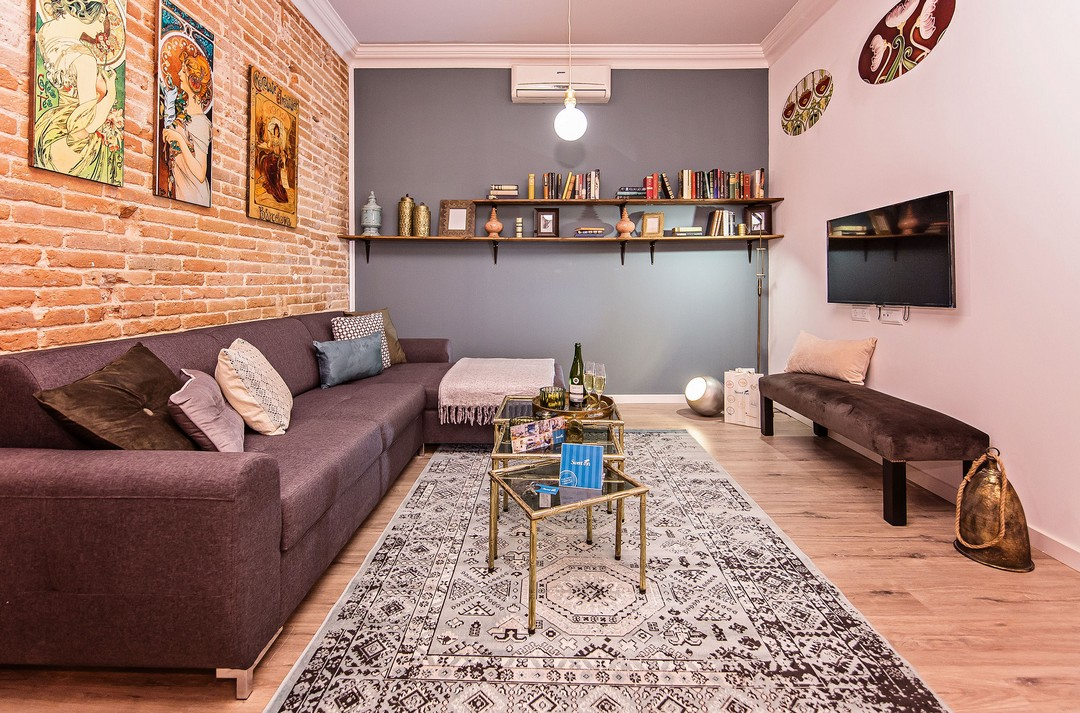 Living room at La Pedrera - Paseo de Gracia Apartment - Citybase Apartments