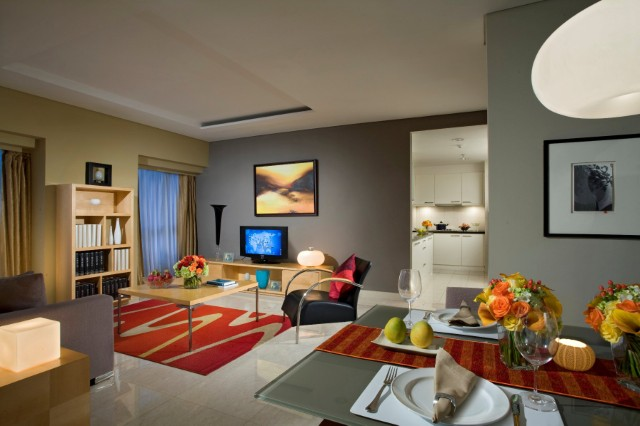 Spacious living area at Somerset Berlian Apartments - Citybase Apartments