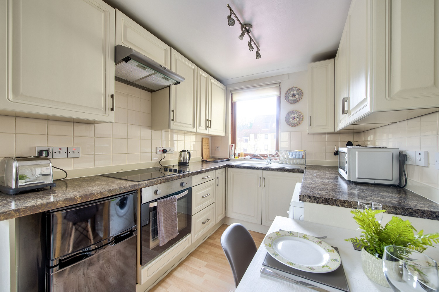 Kitchen at Damside Serviced Apartment - Citybase Apartments