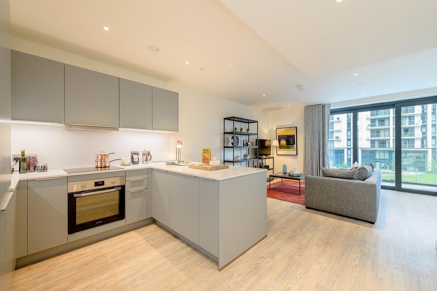 Kitchen at Wembley Park Apartments - Citybase Apartments
