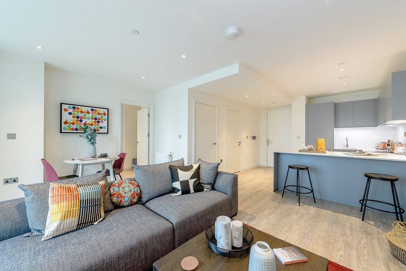 Living room at Wembley Park Apartments - Citybase Apartments