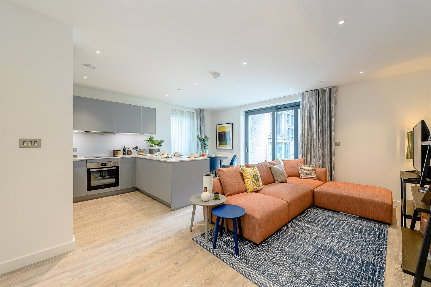 Open-plan living at Wembley Park Apartments - Citybase Apartments
