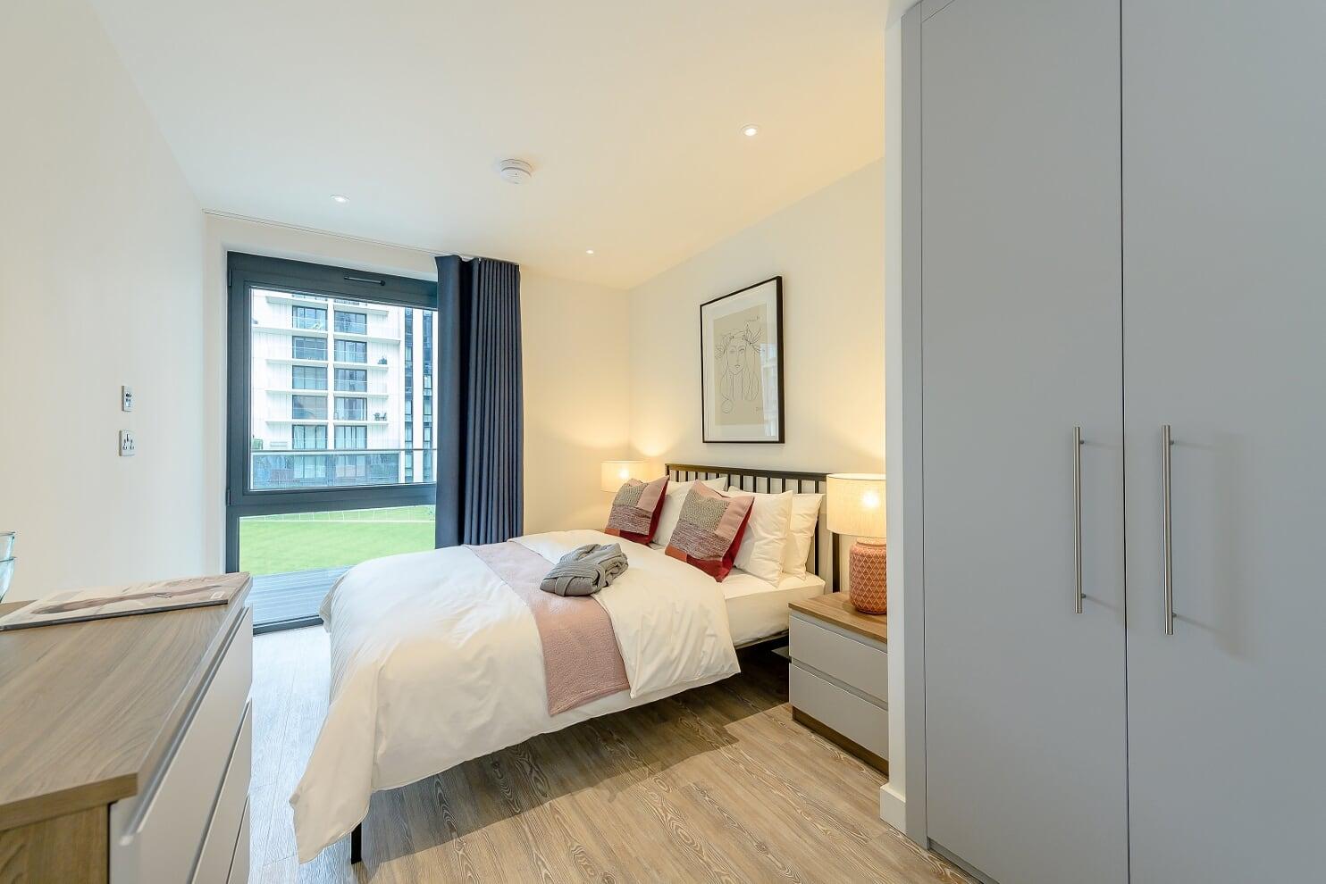 Modern bedrom at Wembley Park Apartments - Citybase Apartments