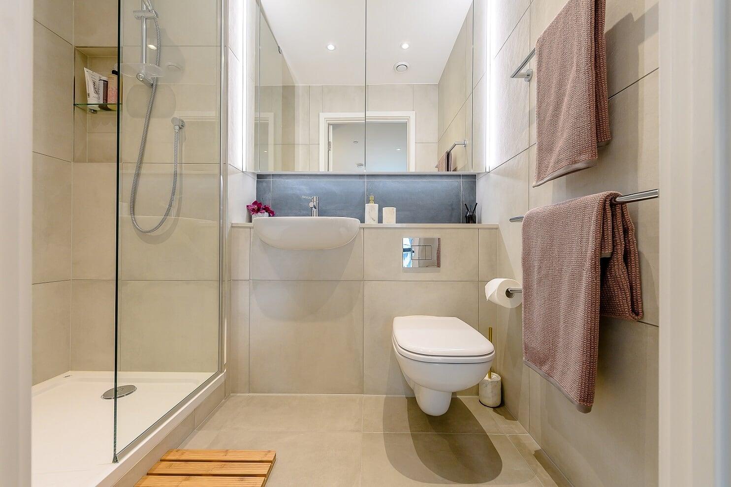 Shower at Wembley Park Apartments - Citybase Apartments