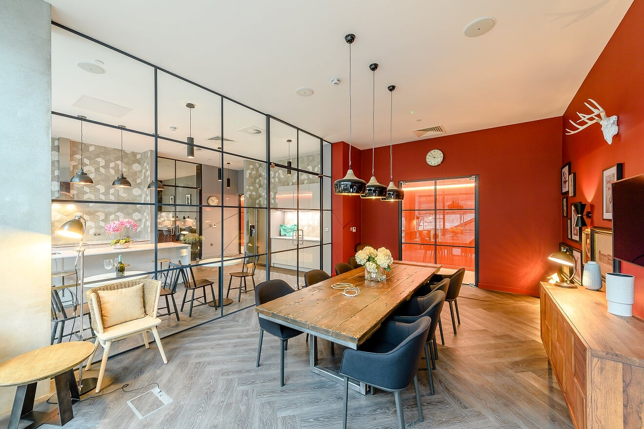 Communal dining area at Wembley Park Apartments - Citybase Apartments