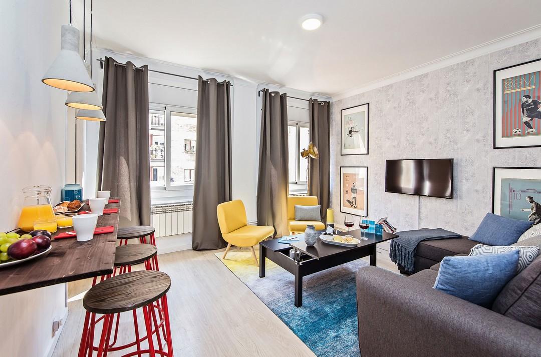 Living area at Sport Design Sant Pau Apartment - Citybase Apartments
