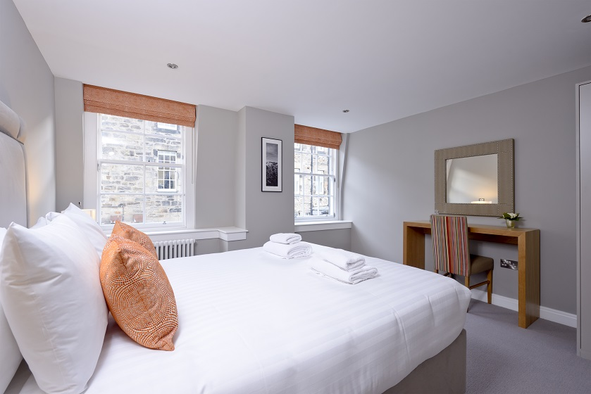 Bedroom at New Town Serviced Apartments - Citybase Apartments