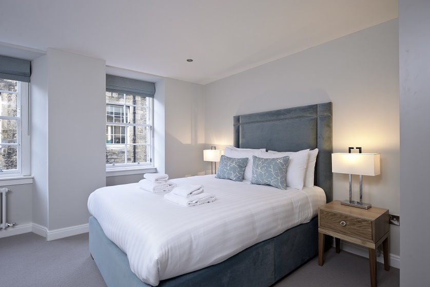 Modern bedroom at New Town Serviced Apartments - Citybase Apartments