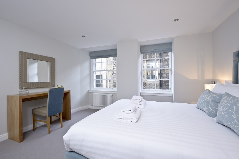 Bright bedroom at New Town Serviced Apartments - Citybase Apartments