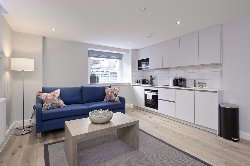 Living room at New Town Serviced Apartments - Citybase Apartments