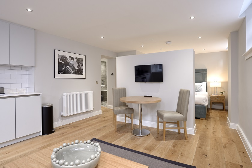 TV at New Town Serviced Apartments - Citybase Apartments