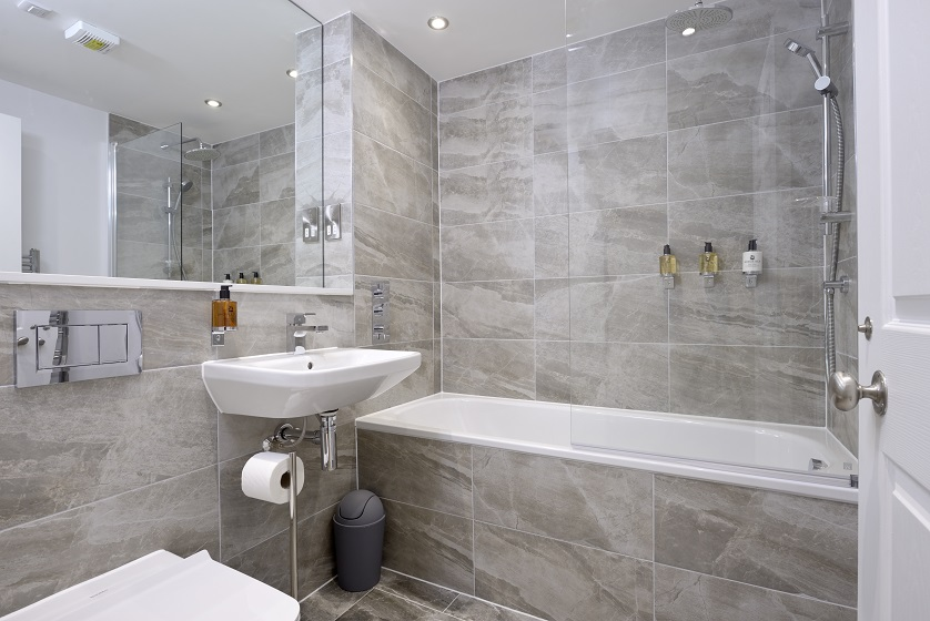 Modern bathroom at New Town Serviced Apartments - Citybase Apartments